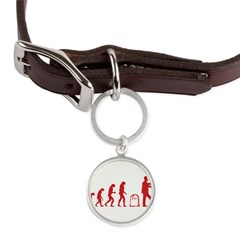 Evolution zombie Large Round Pet Tag