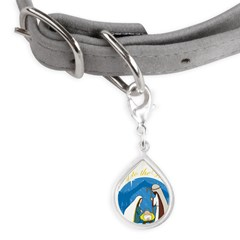nativity scene cp.png Small Teardrop Pet Tag