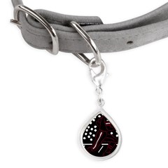 32197306crimson.png Small Teardrop Pet Tag