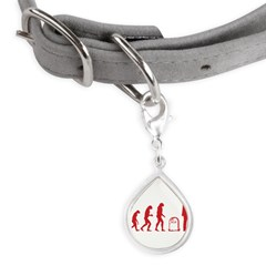 Evolution zombie Small Teardrop Pet Tag