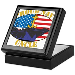 Proud Navy Uncle Keepsake Box
