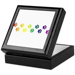 Paws All Over You Keepsake Box