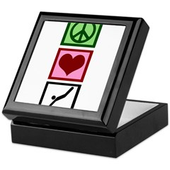 Peace Love Diving Keepsake Box