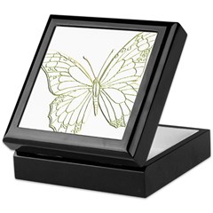 Embossed Butterfly Keepsake Box