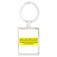 Yellow Ribbon Portrait Keychain
