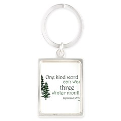 Kind Word Portrait Keychain