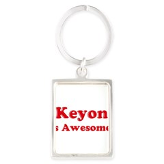 Keyon is Awesome Portrait Keychain