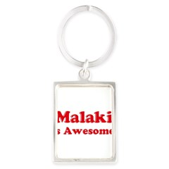 Malaki is Awesome Portrait Keychain