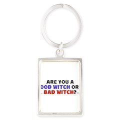 Good Witch or Bad Witch? Portrait Keychain