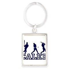 Baseball Caleb Personalized Portrait Keychain