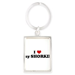 I Love my SHORKIE Portrait Keychain