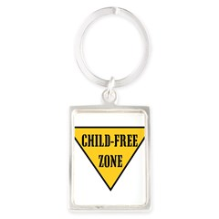 Child-Free Zone Portrait Keychain