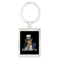 Vote Democratic II - Uncle Sa Portrait Keychain