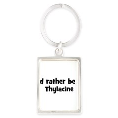 Rather be a Thylacine Portrait Keychain