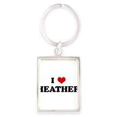 I Love HEATHER Portrait Keychain
