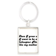 Helicopter Pilot like my moth Portrait Keychain