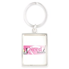 I Need Models Portrait Keychain