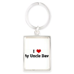 I Love My Uncle Dave Portrait Keychain