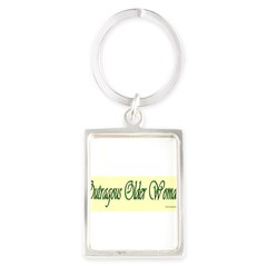 Outragous Older Woman Portrait Keychain
