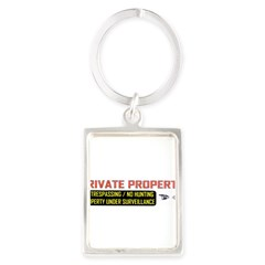 3 x 10 No Trespassing Decal Portrait Keychain
