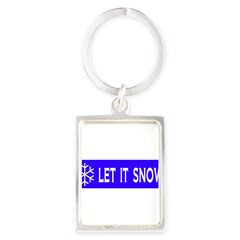 Think Snow Portrait Keychain