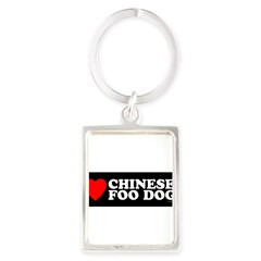 CHINESE FOO DOG Portrait Keychain
