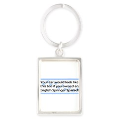 Your Car English Springer Spaniel Portrait Keychain