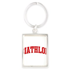 Biathlon (red curve) Portrait Keychain
