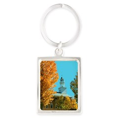 Vermont Country Church Portrait Keychain