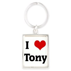 I Love Tony Portrait Keychain