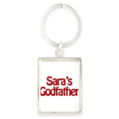 Sara's Godfather Portrait Keychain
