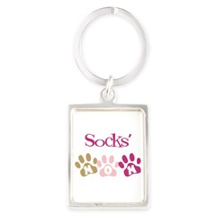 Socks's Mom Portrait Keychain