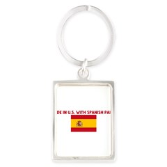 MADE IN US WITH SPANISH PARTS Portrait Keychain