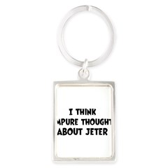 Jeter (impure thoughts} Portrait Keychain