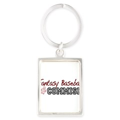Fantasy Baseball Commish Portrait Keychain