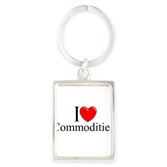 """I Love (Heart) Commodities"" Portrait Keychain"