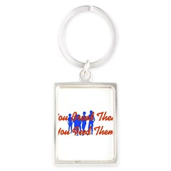 Breed Them Feed Them Portrait Keychain