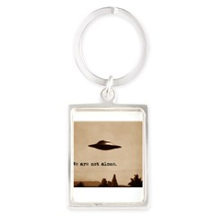 X-Files - We Are Not Alone Portrait Keychain