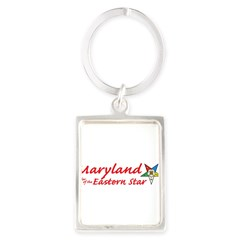 Maryland Eastern Star Portrait Keychain