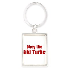 Obey the Wild Turkey Portrait Keychain