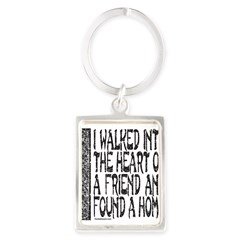 HEART OF A FRIEND Portrait Keychain