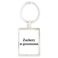 Zackery the groomsman Portrait Keychain