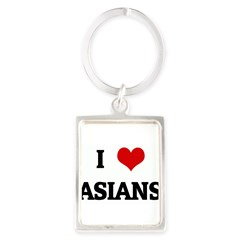 I Love ASIANS Portrait Keychain