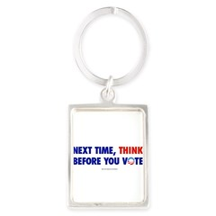 """Think 2012"" Portrait Keychain"