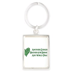 Godless For World Peace Portrait Keychain
