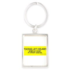 Young At Heart. Slightly older in other place Portrait Keychain