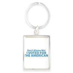 I Voted For The American Portrait Keychain