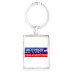 Keep the Change Portrait Keychain