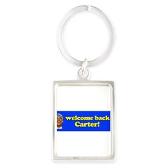 Welcome Back Carter Portrait Keychain
