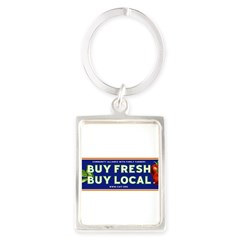 Buy Fresh Buy Local classic Portrait Keychain